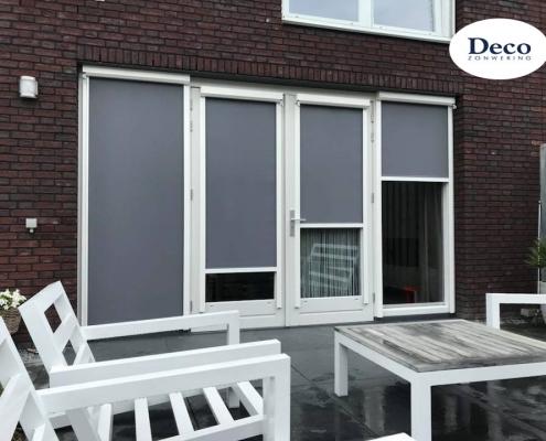 Windvaste screens met zonwerend doek in Oss | Deco Zonwering