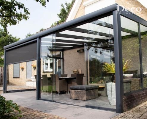 Glaswand terrasoverkapping