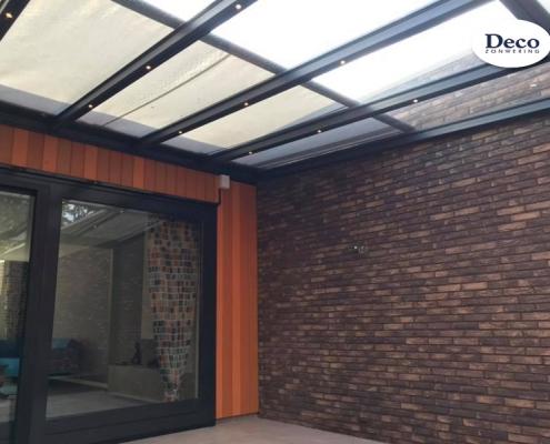 STOBAG terrasoverkapping met LED-verlichting