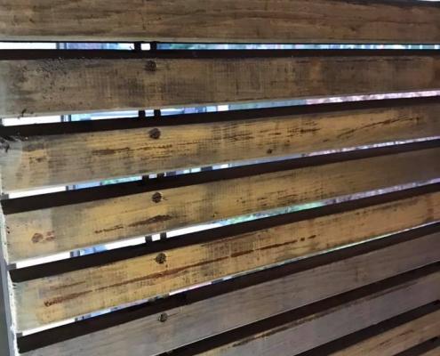 Oude houten rolluiken