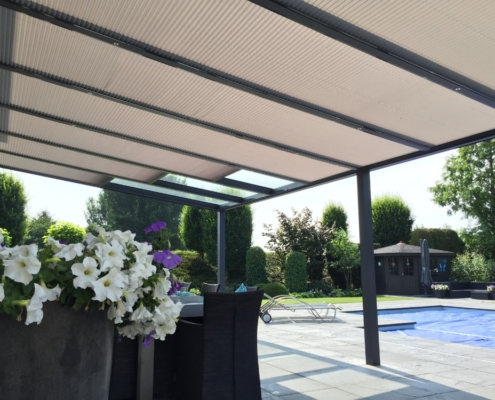 Zonwering plisse veranda